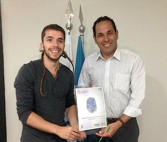 Javier Collado com Luis Godinho, ACNUR Brasil
