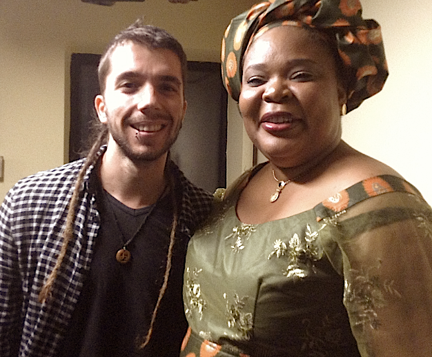 Javier Collado with Ms. Leymah Gbowee, 2011 Nobel Peace Award