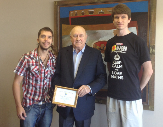 Javier Collado with FW de Klerk, Nobel Peace Prize, Educar para vivir,