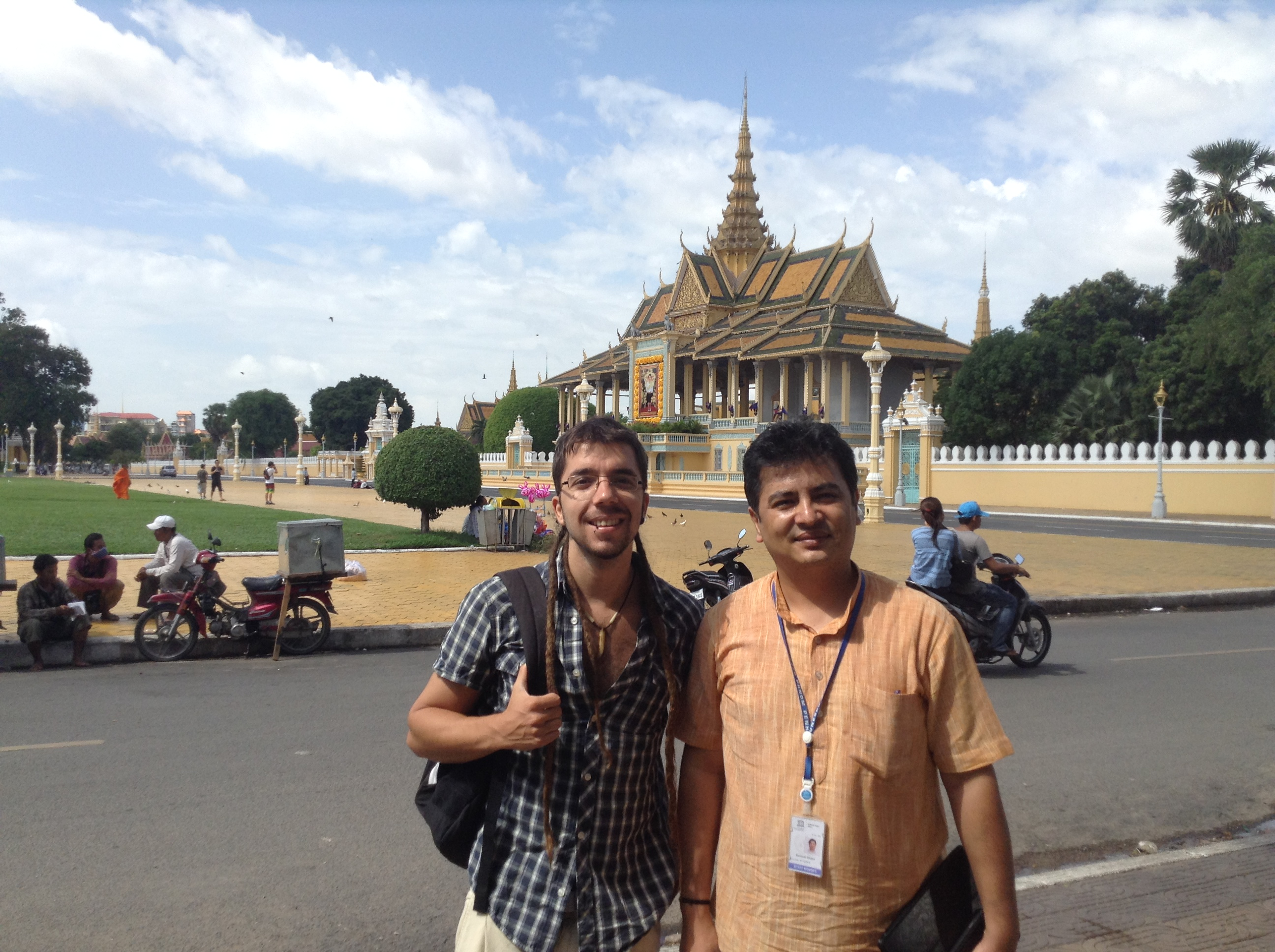 Mr. Santosh Khatri, Education Specialist at UNESCO Cambodia, Javier Collado, Global Education Magazine