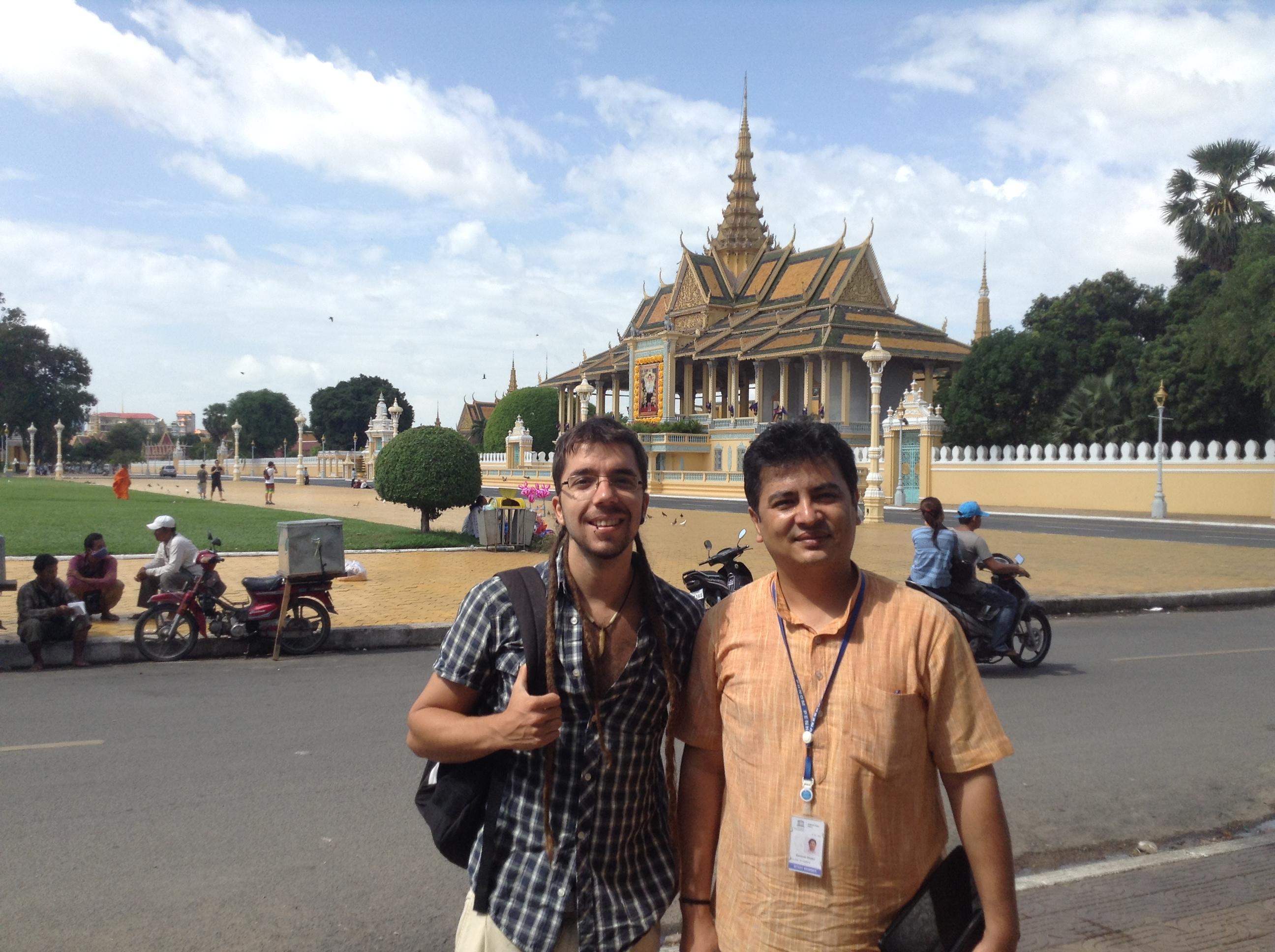 Mr. Santosh Khatri, Education Specialist at UNESCO Cambodia, Javier Collado, Global Education Magazine