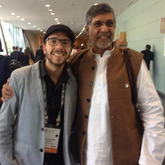 javier collado, Kailash satyarthi, world education forum 2015