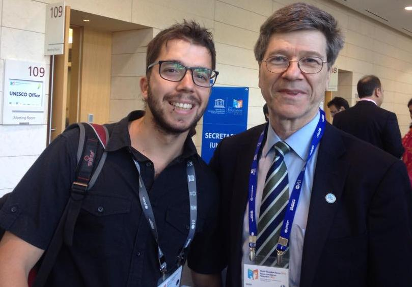 javier collado ruano, jeffrey sachs, world education forum 2015