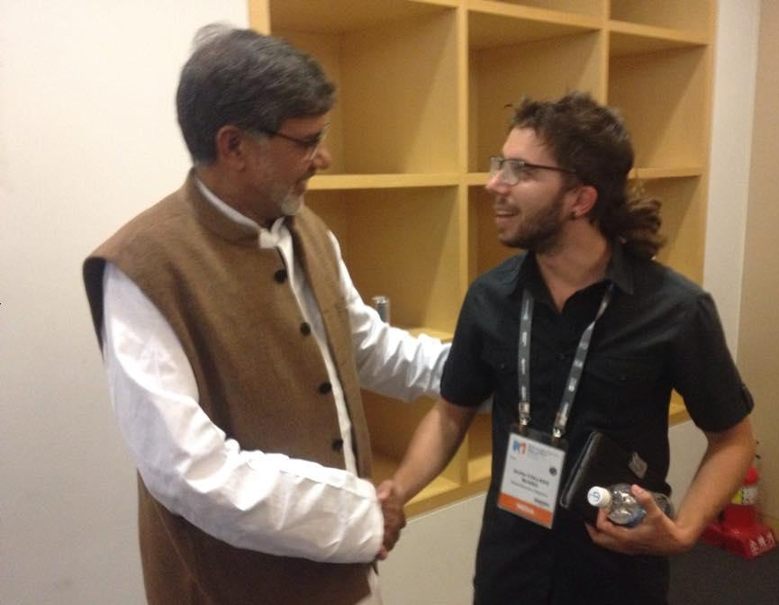 kailash satyarthi, javier collado, world education forum 2015